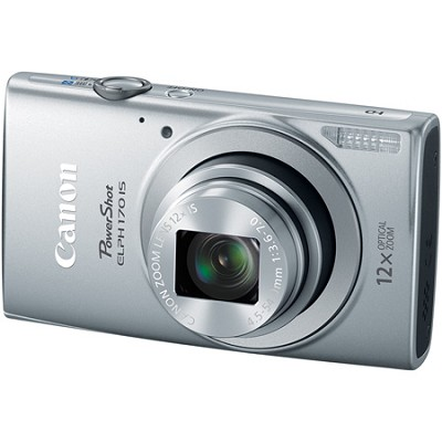 PowerShot ELPH 170 IS 20MP 12x Opt Zoom Digital Camera - Silver