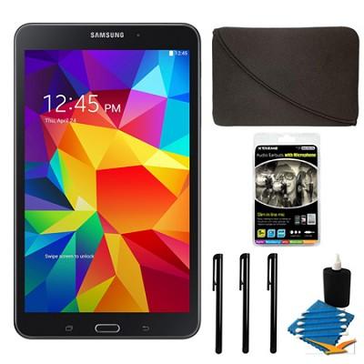 Galaxy Tab 4 Black 16GB 8` Tablet and Case Bundle