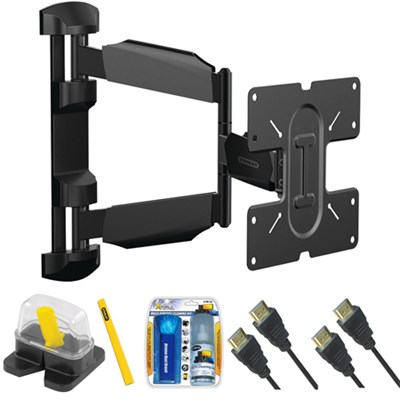 Pro Series Full Motion Articulating TV Mount & Set Up Kit for 23`- 55` TVs