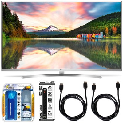 65UH8500 - 65-Inch Super Ultra HD 4K Smart LED TV w/ webOS 3.0 Accessory Bundle