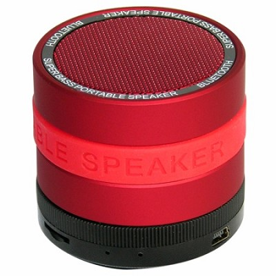 Portable Bluetooth Speaker with 8 Customizable Color Bands- Red Speaker