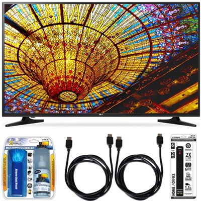 50UH5500 - 50-Inch 4K Ultra HD Smart LED TV w/ webOS 3.0 Accessory Bundle