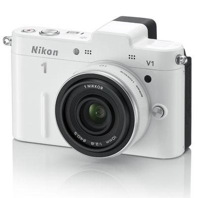 1 V1 SLR White Digital Camera w/ 10-30mm VR Lens