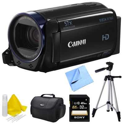 Vixia HF R60 High Definition Camcorder Deluxe Bundle