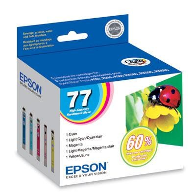 Multi-Color Pack High Capacity Inkjet Cartridge - T077920
