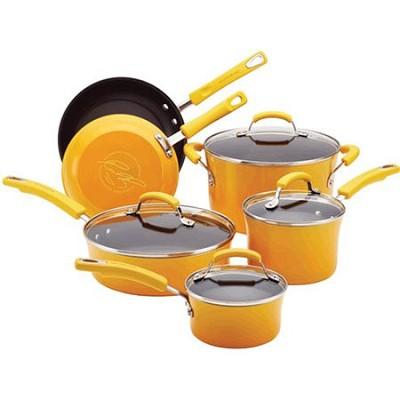 Porcelain Enamel II Nonstick 10-Piece Cookware Set, Yellow Gradient