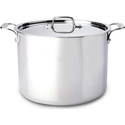 Stainless Steel 12 Quart Tri-Ply Bonded Stockpot with Lid