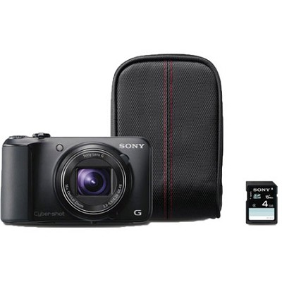 Cyber-shot DSC-H90 16.1 MP 16x Optical Zoom HD Video Camera Bundle (Black)