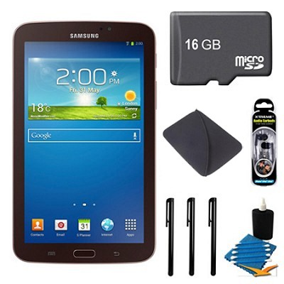 Galaxy Tab 3 (7-Inch, Gold-Brown) + 16GB Micro SDHC and More