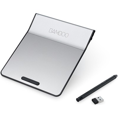 Bamboo Pad Wireless Touch-Pad with Digital Stylus - Silver/Black (CTH300K)