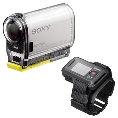 HDR-AS100VR/W HD POV Action Cam + Live View Remote Bundle