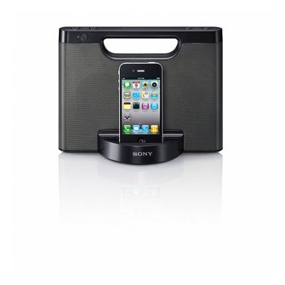 RDP-M5iPBLK Speaker dock for iPod and iPhone (Black) - OPEN BOX