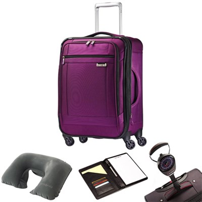 SoLyte 29` Expandable Spinner Upright Suitcase Purple 73852-4895 w/ Travel Kit