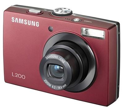 L200 10MP 2.5` LCD Digital Camera (Red)