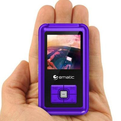 1.5-Inch 8GB MP3 Video Player in Purple with FM Tuner - EM208VIDPR