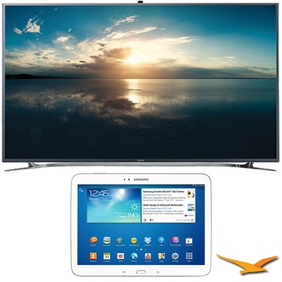 UN55F9000 - 55` 4K Ultra HD 120Hz 3D Smart LED TV - Galaxy Tab 3 10.1` Bundle