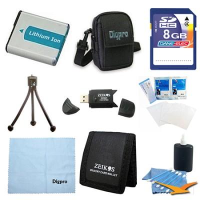 8GB Card & NP50 Battery Value Kit - Fujifilm F600EXR, F660EXR, F750, F770