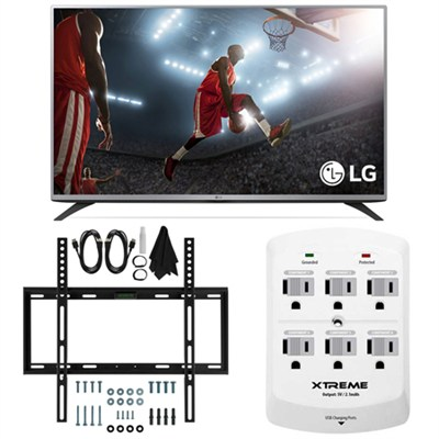 43LF5900 - 43-inch HD 1080p LED Smart TV w/webOS 2.0 Slim Flat Wall Mount Bundle