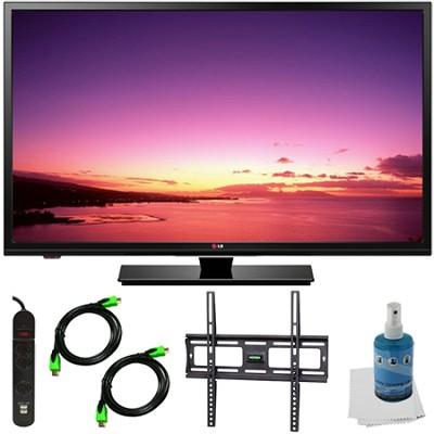32LB520B - 32-inch HD 720p LED TV Plus Mount and Hook-Up Bundle