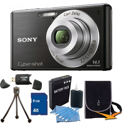 Cyber-shot DSC-W530 Black Digital Camera 8GB Bundle