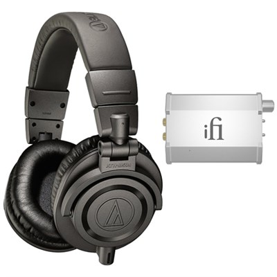 Professional Studio Monitor Headphones - Gray  w/ iFi Audio Port. Headphone Amp.