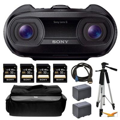 DEV-50 25x Zoom Full HD 3D Digital Recording Binoculars and Memory Card Bundle