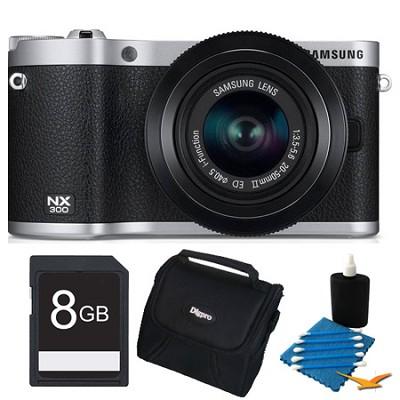 NX300 20.3 MP Digital Camera Black 8GB Essential Bundle