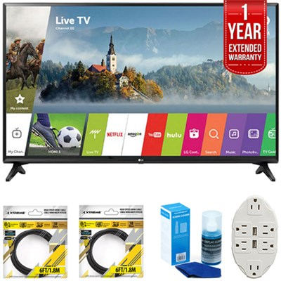 43` Class Full HD Smart LED TV 2017 Model 43LJ5500 with Extended Warranty Kit