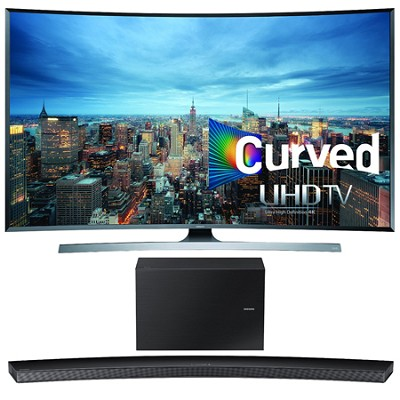 UN55JU7500 - 55-Inch 2160p 3D Curved 4K UHD Smart TV w/ HW-J8500 Soundbar Bundle