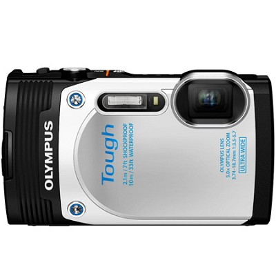 TG-850 16MP Waterproof Shockproof Freezeproof Digital Camera - White