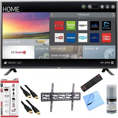 50LF6100 - 50-inch 120Hz Full HD 1080p Smart LED HDTV Tilt Mount Hook-Up Bundle