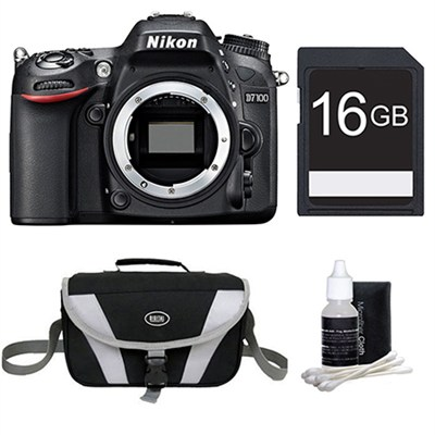 D7100 DX-Format Digital HD-SLR Body 16GB Bundle