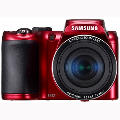 WB100 16MP 26x Optical Zoom Red Digital Camera