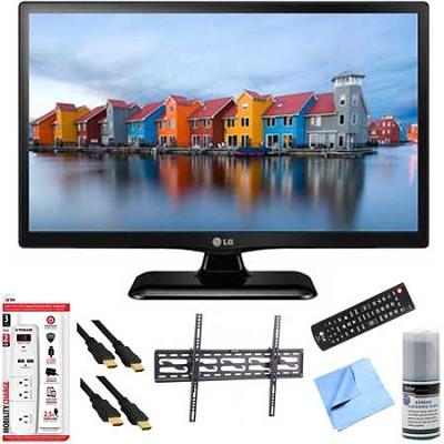 22LF4520 - 22-Inch 1080p Full HD 60Hz LED TV Plus Tilt Mount & Hook-Up Bundle