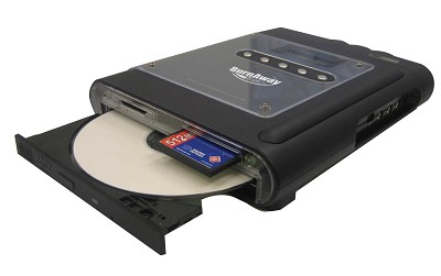 Burnaway Portable Memory Card to CD Burner