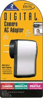 AC Adapter for Canon/Minolta/Nikon/Olympus/Pentax 4.5v Cameras