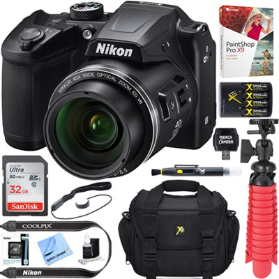 COOLPIX B500 16MP 40x Optical Zoom Wi-Fi Digital Camera (Black) + 16GB Bundle