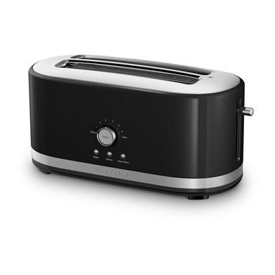 4-Slice Long Slot Toaster with High Lift Lever in Onyx Black - KMT4116OB