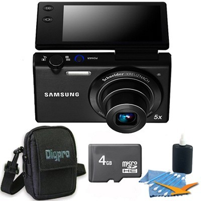 MV800 16.1 MP 3.0` MultiView Compact Digital Camera Black 4GB Kit