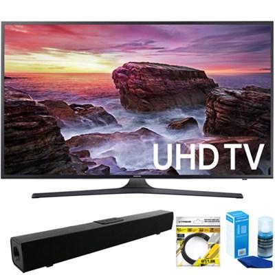 Flat 54.6` LED 4K UHD 6 Series Smart TV 2017 +Bluetooth Sound Bar Bundle