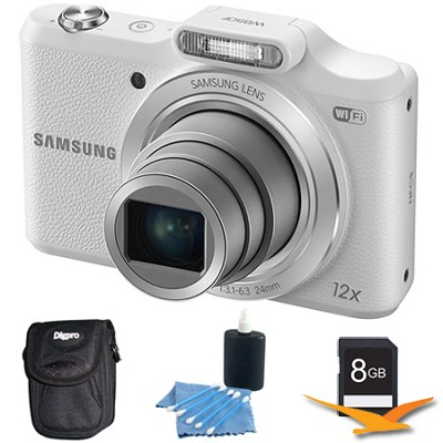 WB50F 16.2MP 12x Opt Zoom Smart Digital Camera White 8GB Kit