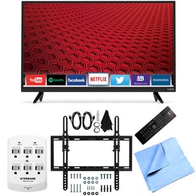 E32-C1 - 32-Inch 120Hz Full HD 1080p Smart LED TV Flat & Tilt Wall Mount Bundle