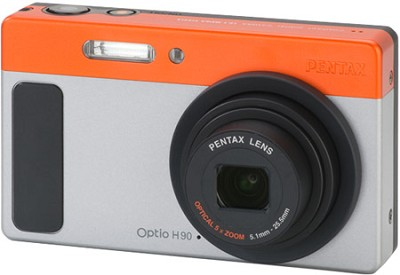 Optio H90 Compact Digital Camera Silver-Orange
