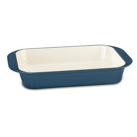 Chef's Classic Enameled Cast Iron 14-Inch Roasting/Lasagna Pan - Provencal Blue