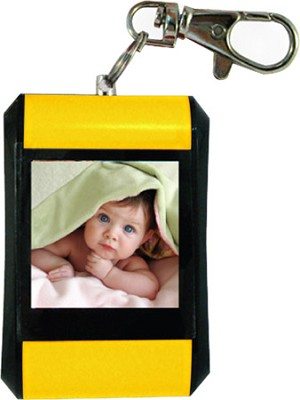 DF15-BK 1.5` Keychain Digital Photo Frame - Holds up to 107 Images (Yellow)