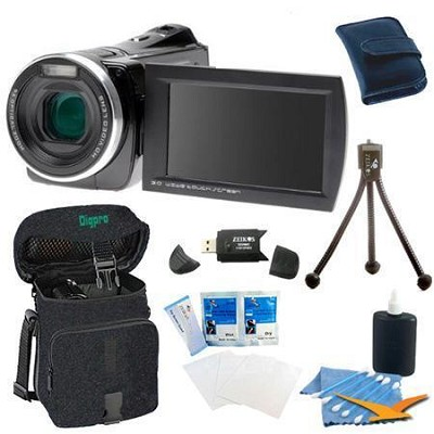 DV1200HD ZoomTouch 1080p HD Digital Video Camcorder Bundle