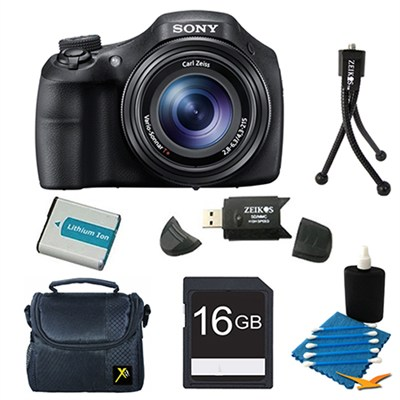 DSC-HX300/B Black Digital Camera 16GB Bundle