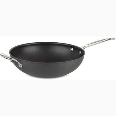 Chef's Classic Nonstick 12-1/2` Stir Fry with Helper Handle and Cover - 626-32H
