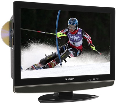 LC-22DV24U 22` High-definition LCD Flat-Panel TV w/ Built-in DVD Player