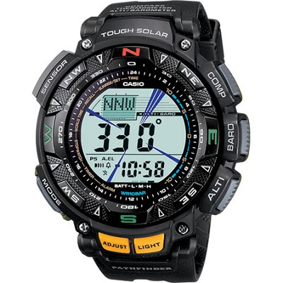 Men's PAG240-1 `Pathfinder` Triple Sensor Multi-Function Sport Watch - Black